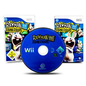Nintendo-Wii-Jeu-Rayman-Lapin-Cretin-TV-Party-Emballage-D-039-Origine-avec-Manuel