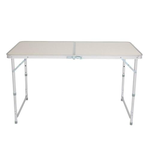 4FT Portable Folding Table Camping Picnic Table Party Kitchen Outdoor Garden UK