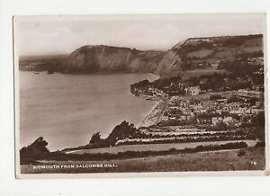 Sidmouth-from-Salcombe-Hill-Devon-RP-Postcard-A905