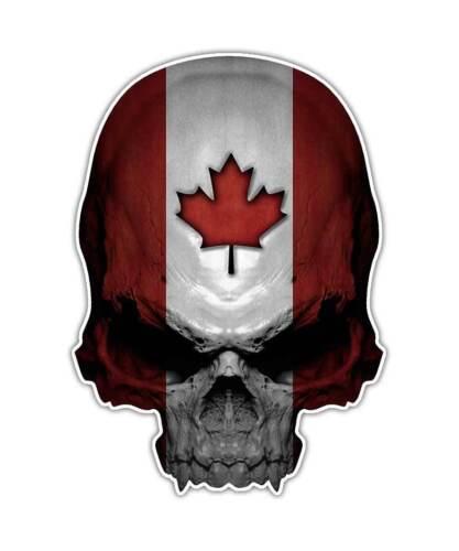 Canada Flag Skull Sticker Maple Leaf ipad graphic 2 Canadian Skull Decal