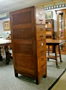 Oak-4-Drawer-File-Cabinet-Weis-with-Base-Panel-Sides-and-Back-Monroe-Michigan