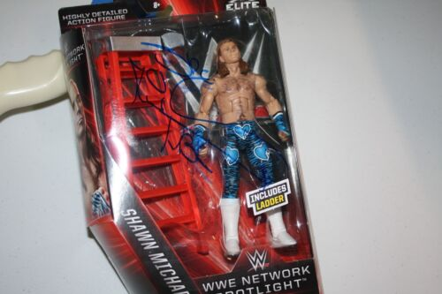 WWE Le meilleur de réseau Elite Figurine Signé Par Shawn Michaels RARE!