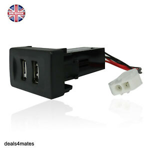 Vw-Transporter-T4-In-Dash-Dashboard-Panel-Dual-Usb-Port-Charger-Power-Outlet-12v