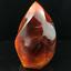 Natural-carnelian-flame-Shape-Quartz-Crystal-agate-torch-specimen-Healing-200g thumbnail 6