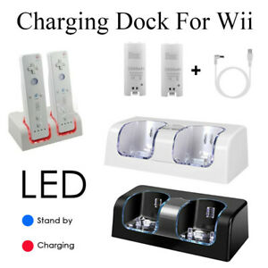 For-Nintendo-WII-Remote-Controller-2-Batteries-Charger-Charging-Dock-Station