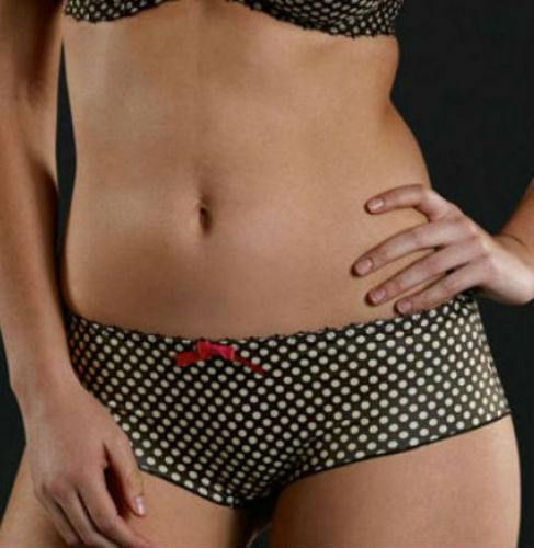 Freya Jessica Short Briefs Vintage Polka Dot Black 4156 Size XS UK 8-10 NEW