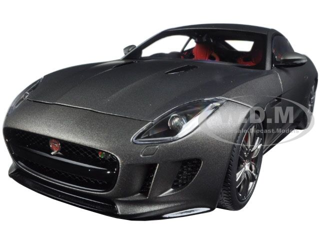 2015 JAGUAR F TYPE R COUPE MATT GREY 1/18 MODEL CAR BY AUTOART