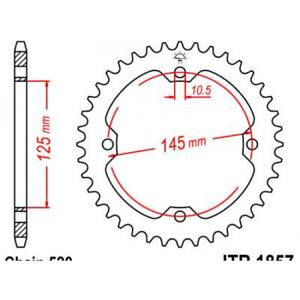 Couronne-acier-38-dents-yfm350r-raptor-et-yfz450r-2004-Jt-sprockets-JTR1857-38