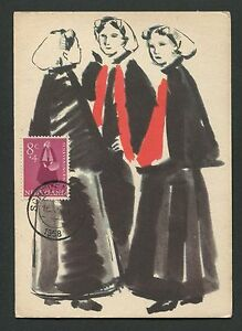 NIEDERLANDE-MK-1958-TRACHTEN-COSTUMES-MAXIMUMKARTE-MAXIMUM-CARD-MC-CM-d2006
