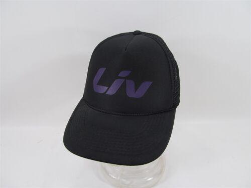 LIV BEYOND BLACK PURPLE FOAM TRUCKER STYLE MESH BACK CYCLING MTB BALL HAT CAP