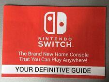 Nintendo Switch Definitive Guide Promotional Leaflet Booklet Zelda Arms Etc