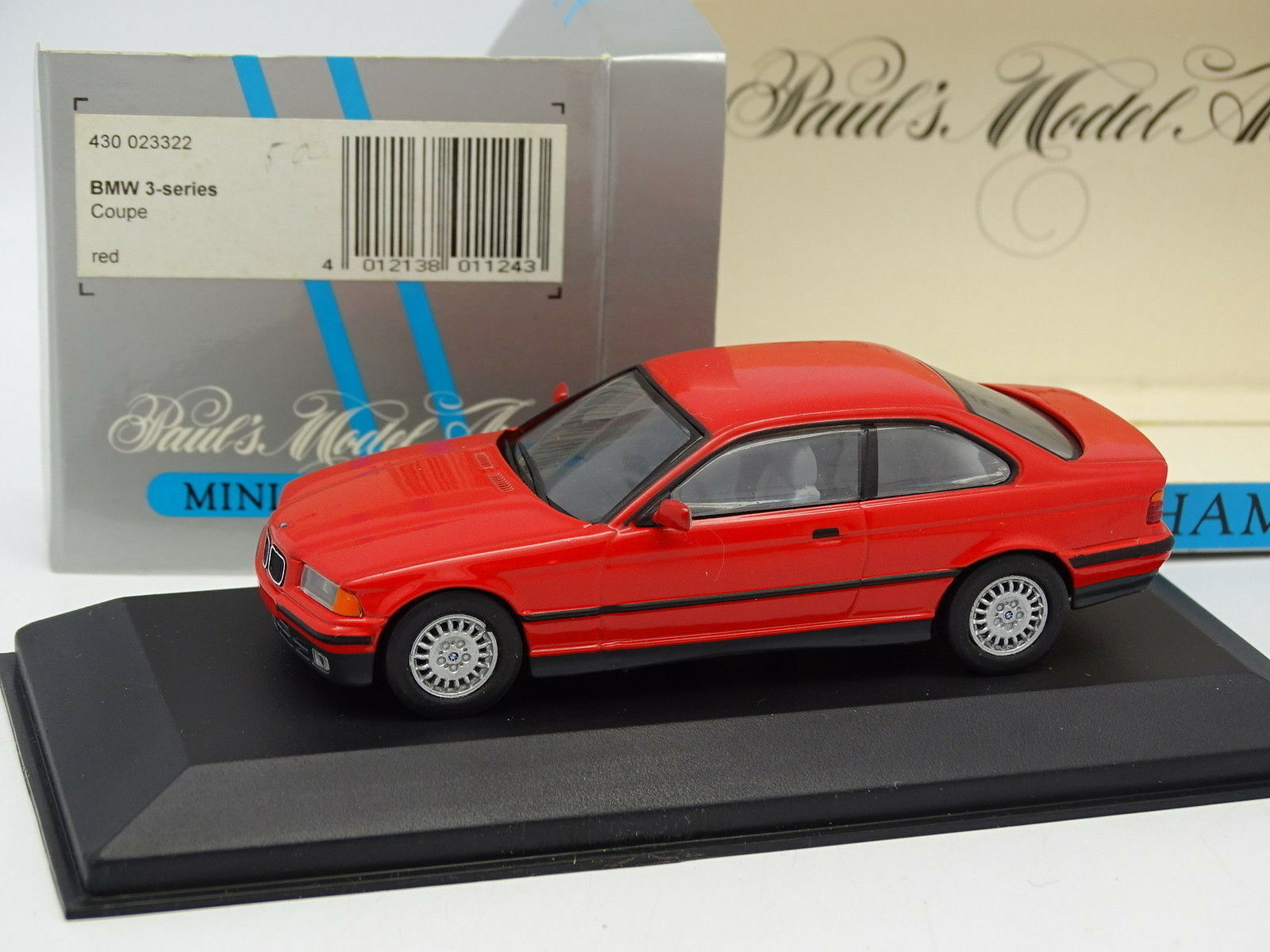 Minichamps 1 43 - BMW Serie 3 E36 Coupé red
