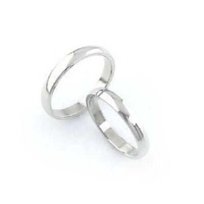 Classic 4mm titanium band ring, multiple sizes