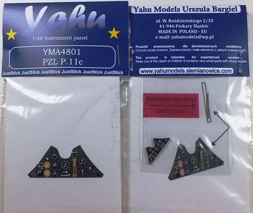 Yahu Models YMA4809 1//48 PE Macchi C.202 Early instrument panel Hasegawa