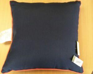 Navy Orange Outdoor Square Throw Pillow Threshold 887995108825 Ebay