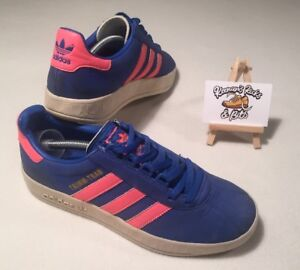 98b856405 Adidas Originals TRIMM TRAB 2004 Blue Pink Trainers UK 6  VINTAGE ...
