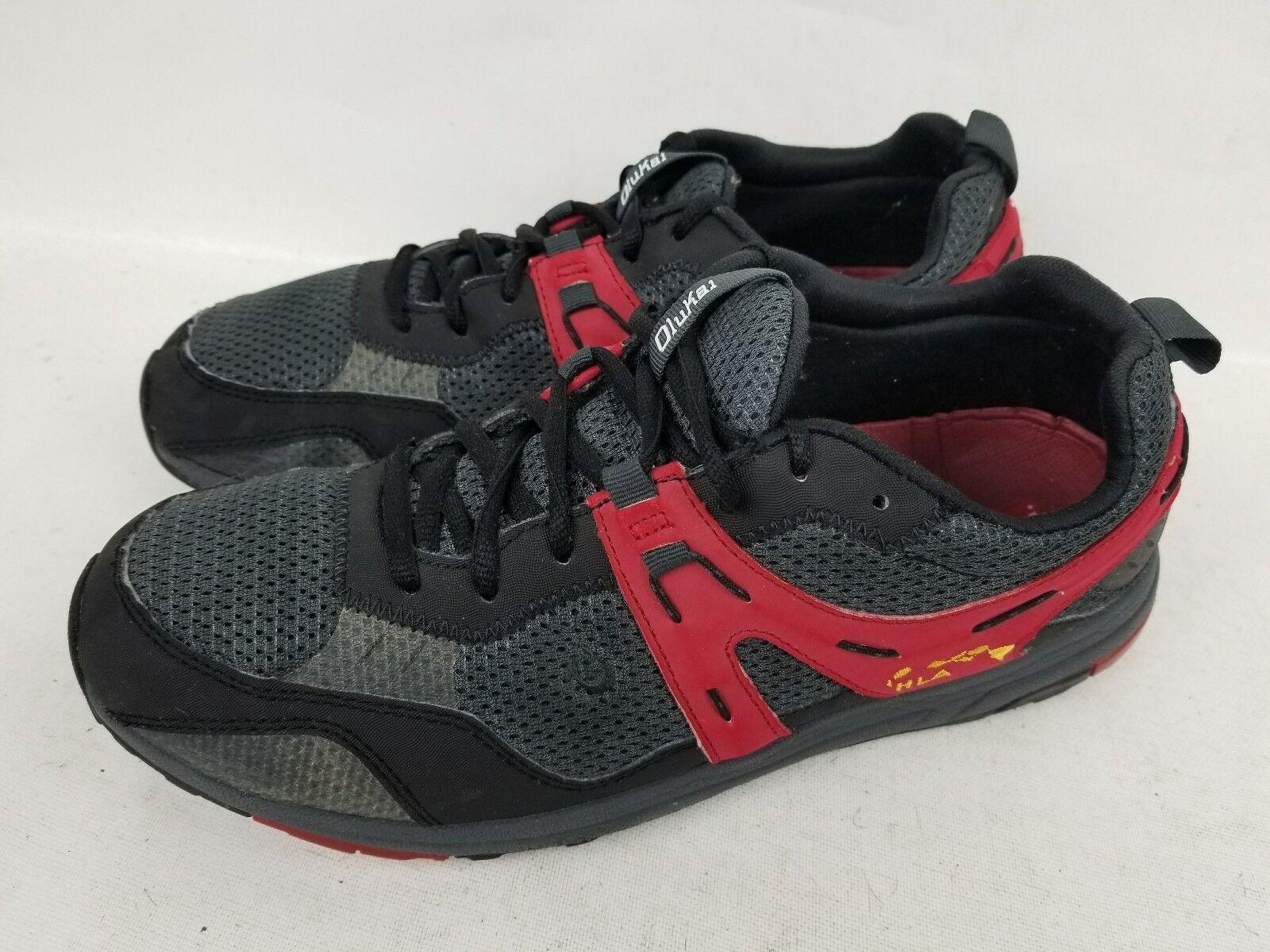 Olukai Men's Athletic Walking Running Training Black  Shoes SZ US 10.5