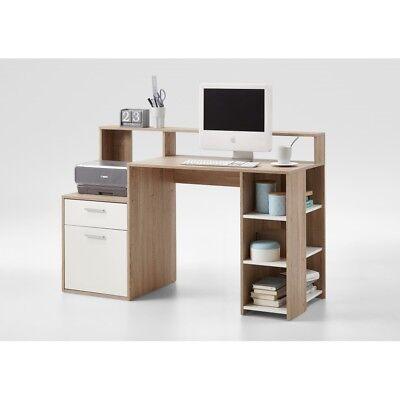 Eiche Nb. Schreibtisch Arbeitstisch PC Tisch Bürotisch Office Momo 30 Beton