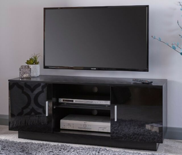 the best attitude b2afe 45d18 Modern TV Cabinet High Gloss Black Television Stand Suitable for 55 Inch  Lima