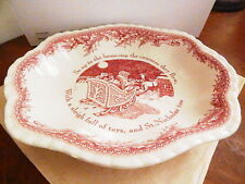 Johnson Bros TWAS THE NIGHT BEFORE CHRISTMAS Oval Serving Dish Bowl - NEW / BOX!