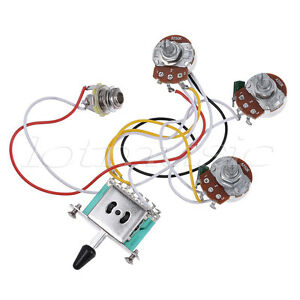 s l300 guitar wiring harness kit 5 way toggle switch 250k 2t1v pots for