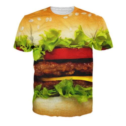 Women//Men 3D print T-Shirts Summer Short Sleeve Casual Slim Fit Graphic Tee Tops