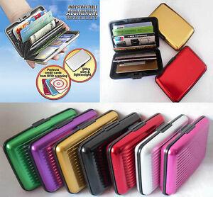 021006e6d07c15 Caricamento dell'immagine in corso Portafoglio-porta -documenti-impermeabile-in-alluminio-Carte-credito-