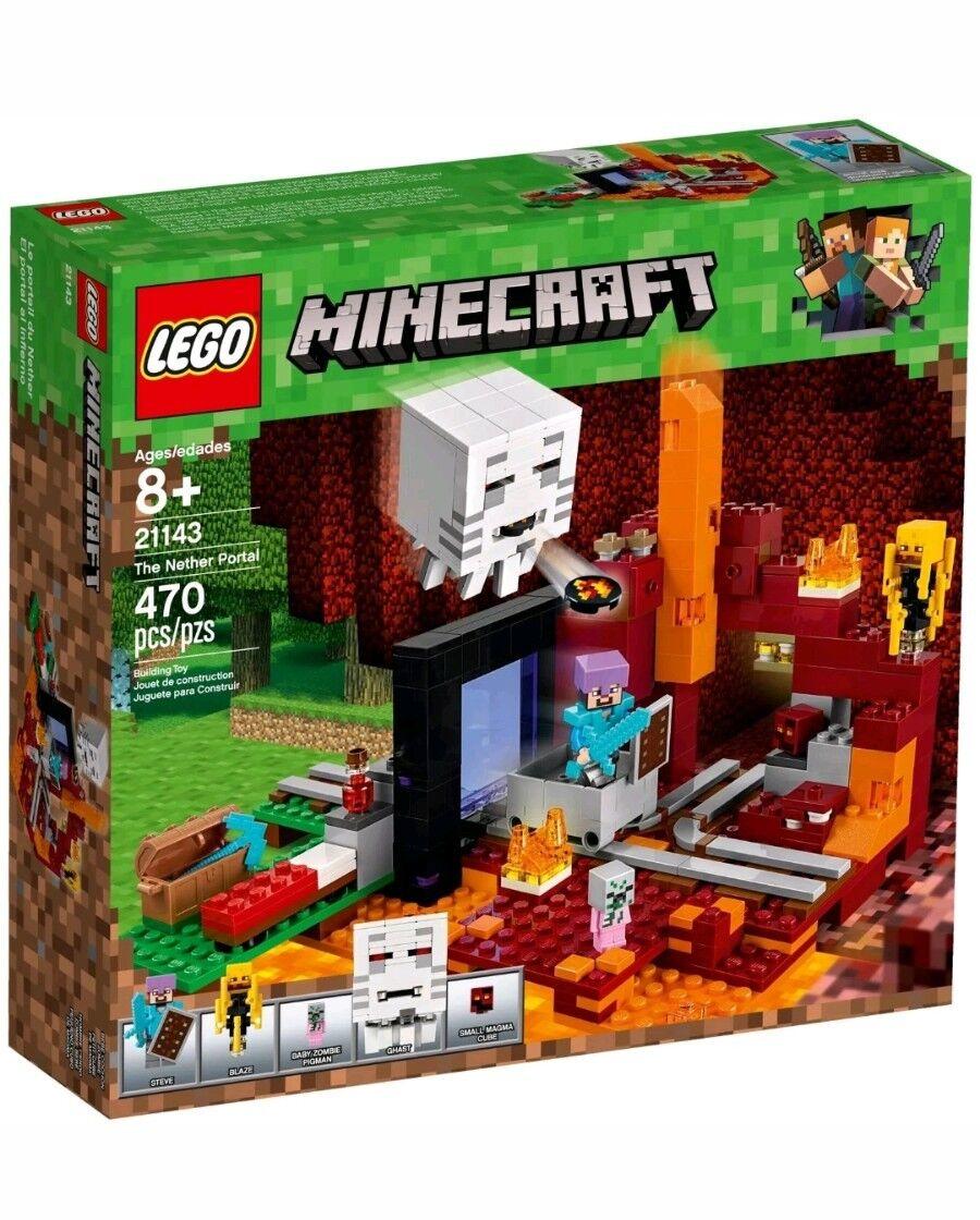 LEGO MINECRAFT 21143 portale portale portale Nether 21146 attacco Scheletro 21152 galeone pirati d2d8d1