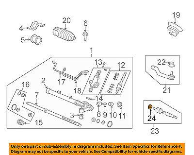 Inner Tie Rod Rack Fin Pour Honda Accord VIII 08 /> 15 2.0 2.2 2.4 Cu Cw Kit