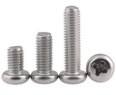 Pan Head Phillips Machine Screws M2-M8 GB818 A4 Stainless Steel 4mm 80mm Long