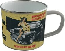 Emaille Becher - MY GARAGE - MY RULES -  BB03 emaillierte Tasse