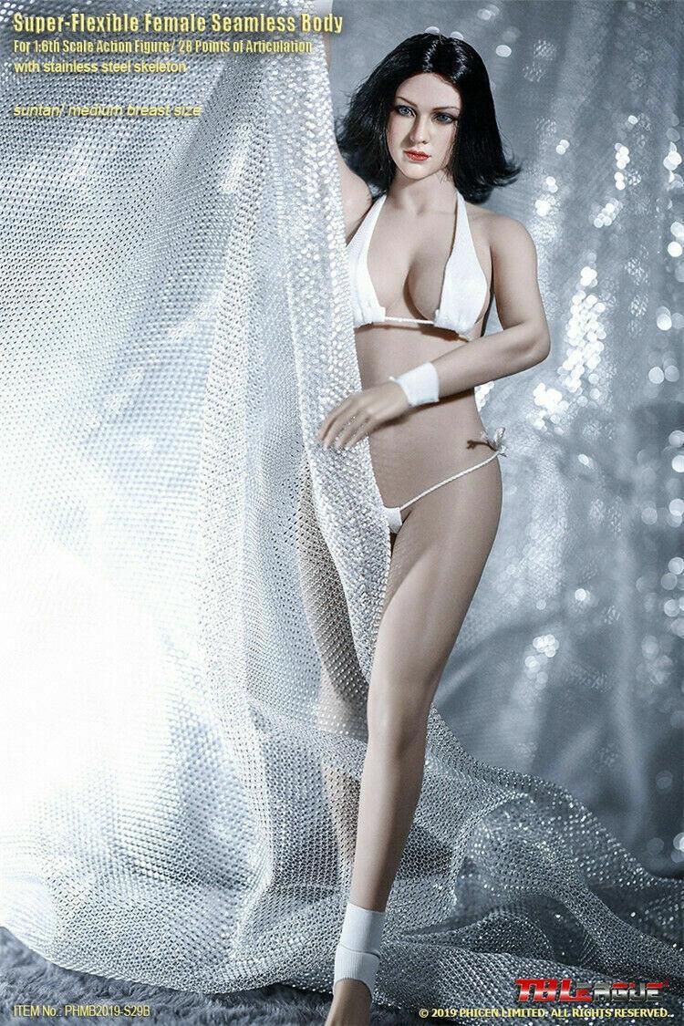 TBLeague 1 6 femelle Bronzage Mid Bust Sans Couture Body Super Flexible PHMB 2019-S29B