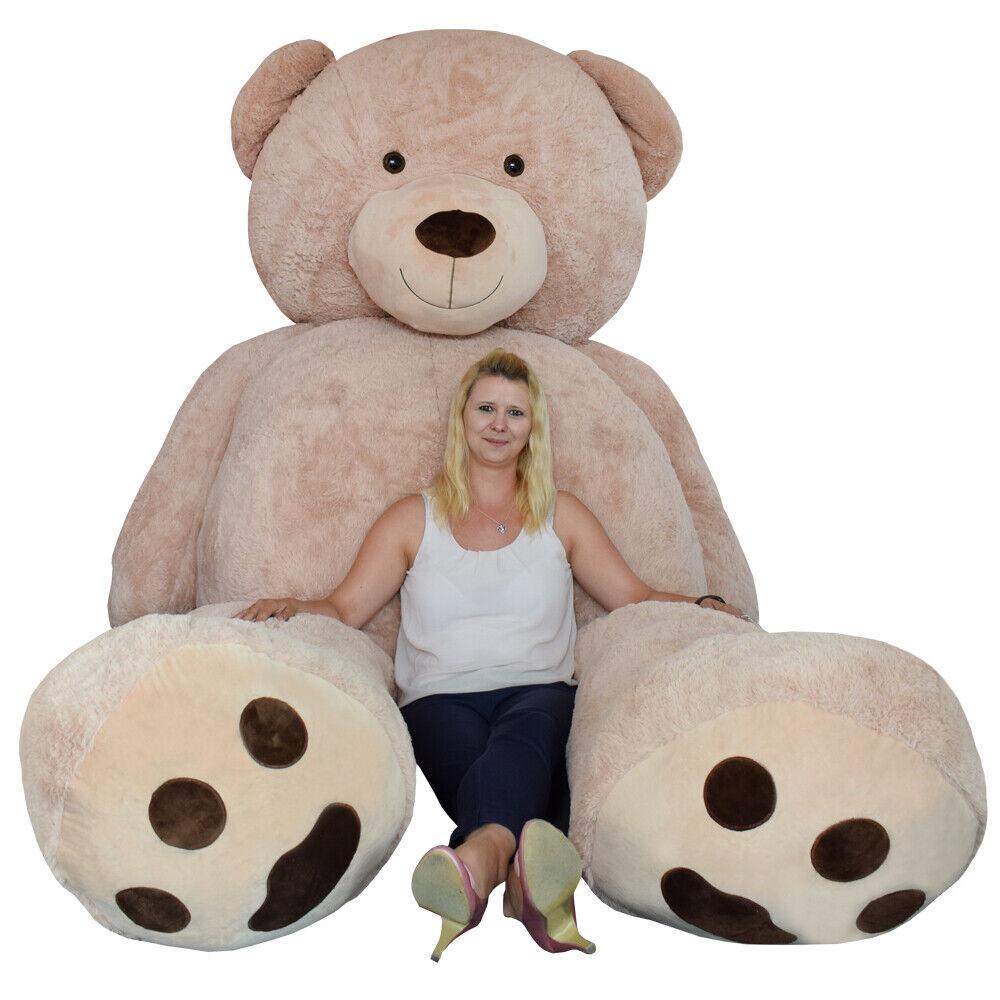 XXL Riesen groß Teddy Teddybär Plüsch Tier Bär Kuschelbär 320cm Plüschbär Braun