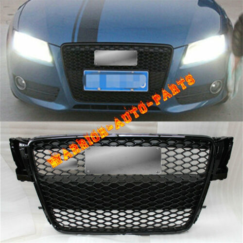 For Audi RS5 Front Sportback Sline Gloss Black Grille A5 S5 8T SFG 2008-2012