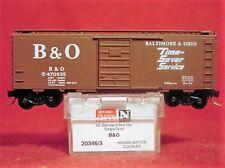 MTL 20346-3 BALTIMORE & OHIO 40'Box Car 'Time-Saver Service'#470835 MINT N-SCALE
