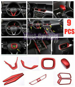 For Honda Accord 9X 2018-2020 ABS RED Interior Accessories Whole Kit Covers Trim