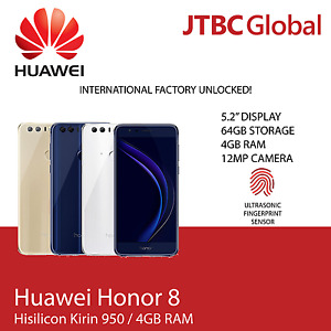 New 5.2 Inch Huawei Honor 8 FRD-L19 LTE 4G 64GB Factory Unlocked Smart Phone