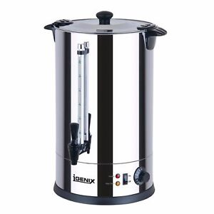 Igenix 8.8Litre Stainless Steel Commercial Catering Tea Urn/Hot Water Boiler A55