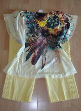 WOMENS PLUS SIZE CLOTHING Lot Of 3 Sz 18 1X 2X Capri Pants Blouse Top Necklace