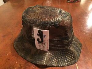 031b55d6a8b VANS NWTs Bucket Mesh Hat w  Palms Green Camo Beach Summer Sm Md ...
