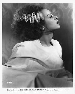 THE BRIDE OF FRANKENSTEIN BLACK AND WHITE 8x10 classic Portrait 3 !!!
