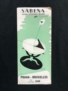 SABENA-AIRLINES-Original-TIMETABLE-SCHEDULE-BROCHURE-BOOK-1949-M-Anciaux