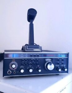Drake-TR7A-TR7-Ham-Radio-Transceiver-with-PS7-Power-Supply-amp-Mic-MANUALS
