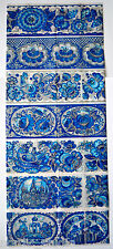 14 EASTER EGG WRAPS THERMO SLEEVES, GZHEL Russian folk art FLOW BLUE