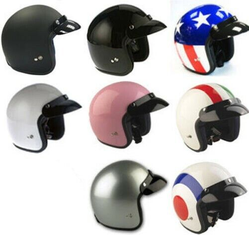 VIPER RS-04 OPEN FACE SCOOTER MOTORBIKE MOTORCYCLE MOD RETRO HELMET