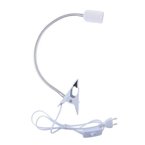 Lampenfassung E27 mit 360 Grad verstellbarem Schwanenhals und Schalter,