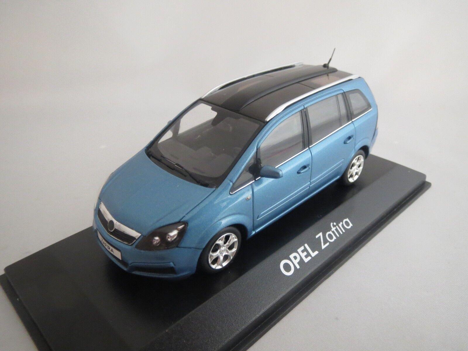 MINICHAMPS 93199268 Opel Zafira  commerçant modèle  (Bleu-Met.) 1 43 neuf dans sa boîte