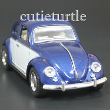 Kinsmart 1967 Classic Volkswagen Beetle Bug 1:32 Diecast Car 2 Tone Blue White