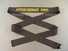 93219 Mützenband: UNTERSEEBOOT U955, U-995, gelb/schwarz, Erinnerungsband