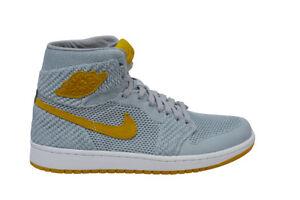 Grau Air 919704025 Hi Flyknit Gelbgolden Nike zu 1 Details Herren Retro Wolf Jordan shrtQCdx